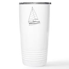 PinkBoat - Boat Sketch Travel Mug