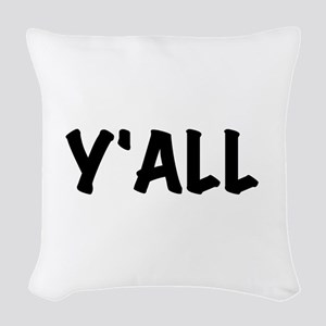 Y'All Woven Throw Pillow