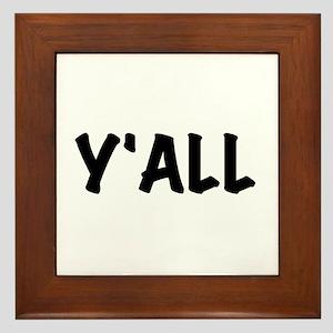 Y'All Framed Tile