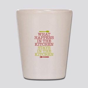 What Happens in the Kitchen Shot Glass
