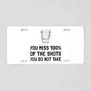 Miss The Shots Aluminum License Plate