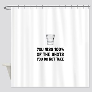 Miss The Shots Shower Curtain