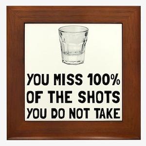 Miss The Shots Framed Tile