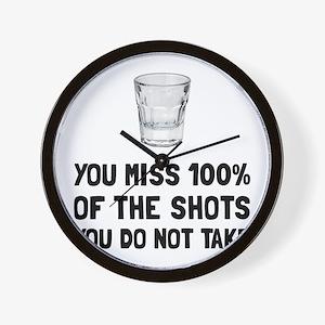 Miss The Shots Wall Clock