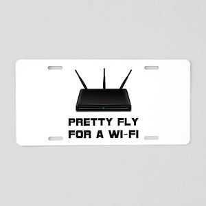 Pretty Fly WiFi Aluminum License Plate