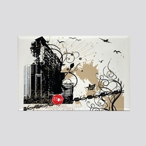 City art design Rectangle Magnet