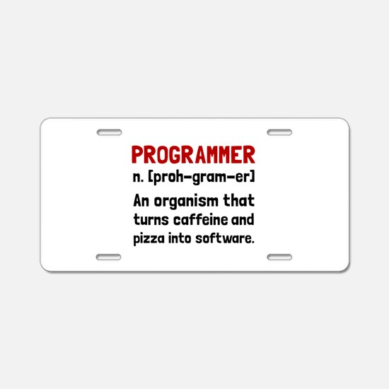 Programmer Definition Aluminum License Plate