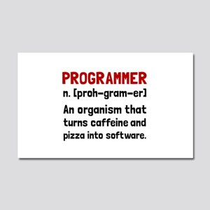Programmer Definition Car Magnet 20 x 12