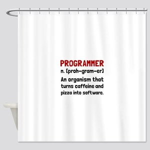 Programmer Definition Shower Curtain
