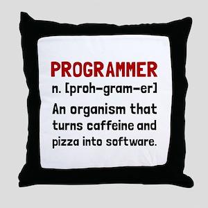 Programmer Definition Throw Pillow