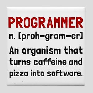 Programmer Definition Tile Coaster