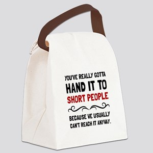 Short People Canvas Lunch Bag