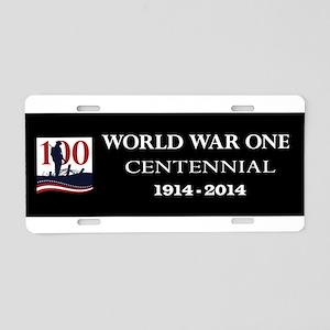 World War I Centennial Aluminum License Plate