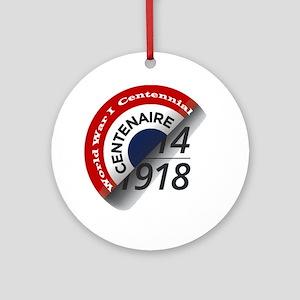 World War I Centennial Ornament (round)