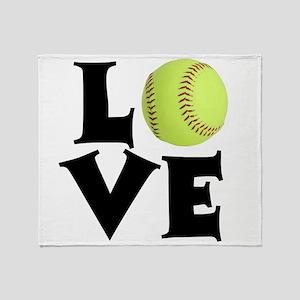 Love - Softball Throw Blanket