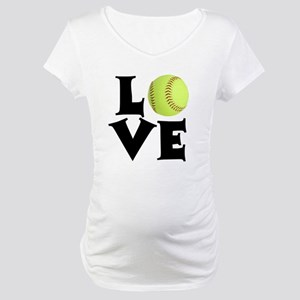 Love - Softball Maternity T-Shirt