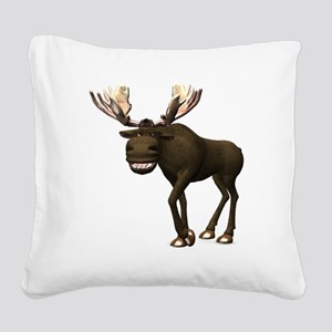 Moose Square Canvas Pillow