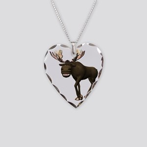 Moose Necklace Heart Charm