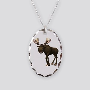 Moose Necklace Oval Charm