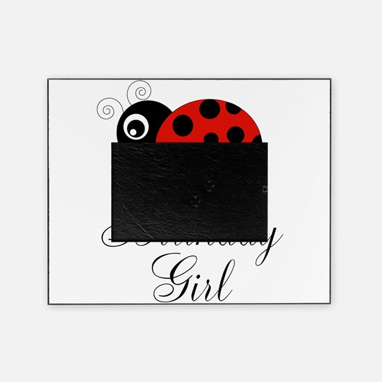 Red and Black Birthday Girl Ladybug Picture Frame