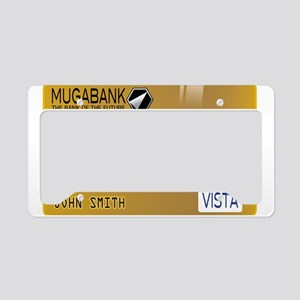 Golden credit License Plate Holder