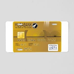 Golden credit Aluminum License Plate