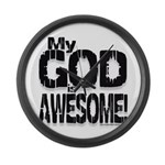 My God is Awesome - White Large Wall Clock