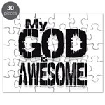 My God is Awesome - White Puzzle