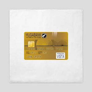 Golden credit Queen Duvet