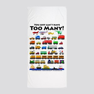 Too Many! Black Lettering Beach Towel