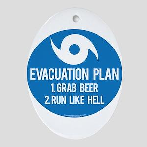Hurricane Evacuation Plan Ornament (Oval)