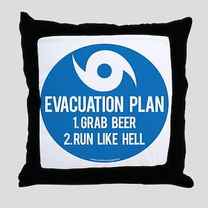 Hurricane Evacuation Plan Throw Pillow