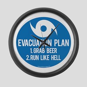Hurricane Evacuation Plan Large Wall Clock
