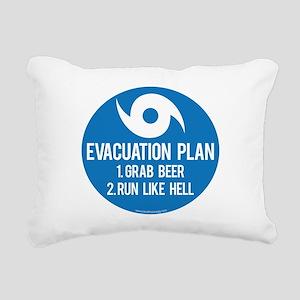 Hurricane Evacuation Plan Rectangular Canvas Pillo