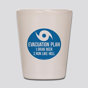 Hurricane Evacuation Plan Shot Glass