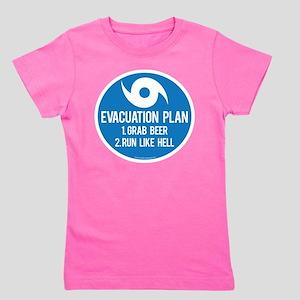 Hurricane Evacuation Plan Girl's Tee