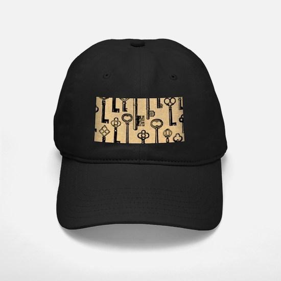 Old Keys Pattern Baseball Hat