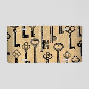 Old Keys Pattern Aluminum License Plate