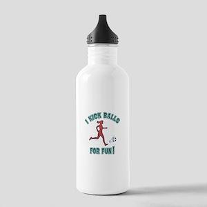 Women's Soccer I Kick Stainless Water Bottle 1.0L
