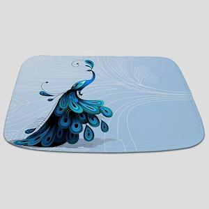 Elegant Peacock Bathmat