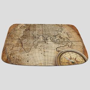 Vintage Map Bathmat