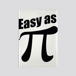 Easy as Pi Rectangle Magnet