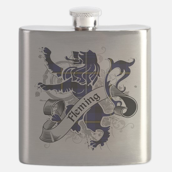 Fleming Tartan Lion Flask