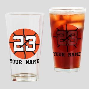 Basketball Player 23 Customized Drinking Glass