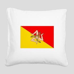 Sicily Square Canvas Pillow