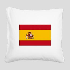 Spain Square Canvas Pillow