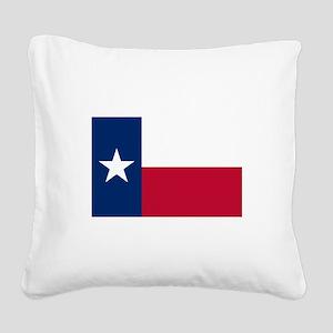 Texas Square Canvas Pillow