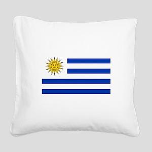 Uruguay Square Canvas Pillow
