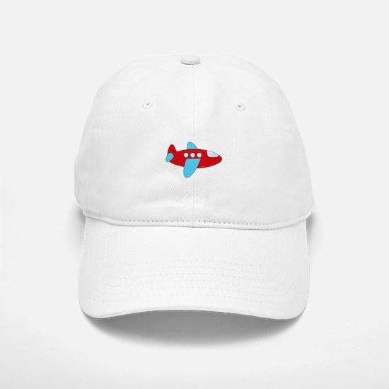 Red and Blue Airplane Baseball Baseball Baseball Cap