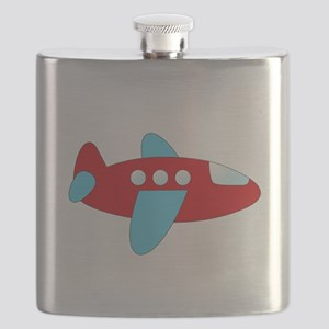 Red and Blue Airplane Flask